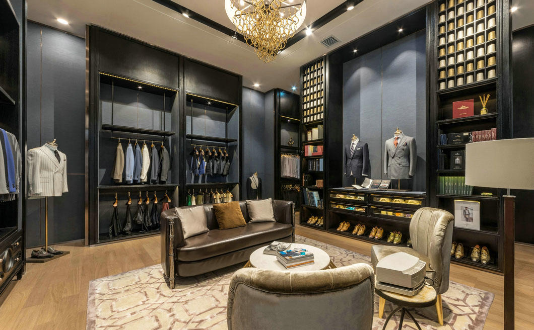 high-end garment shop interior design ideas cheapest price for show room OUYEE-1