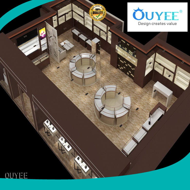OUYEE Brand counter store case jewellery shop design
