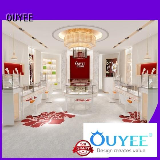 shops table interior cases jewellery shop showcase design OUYEE Brand
