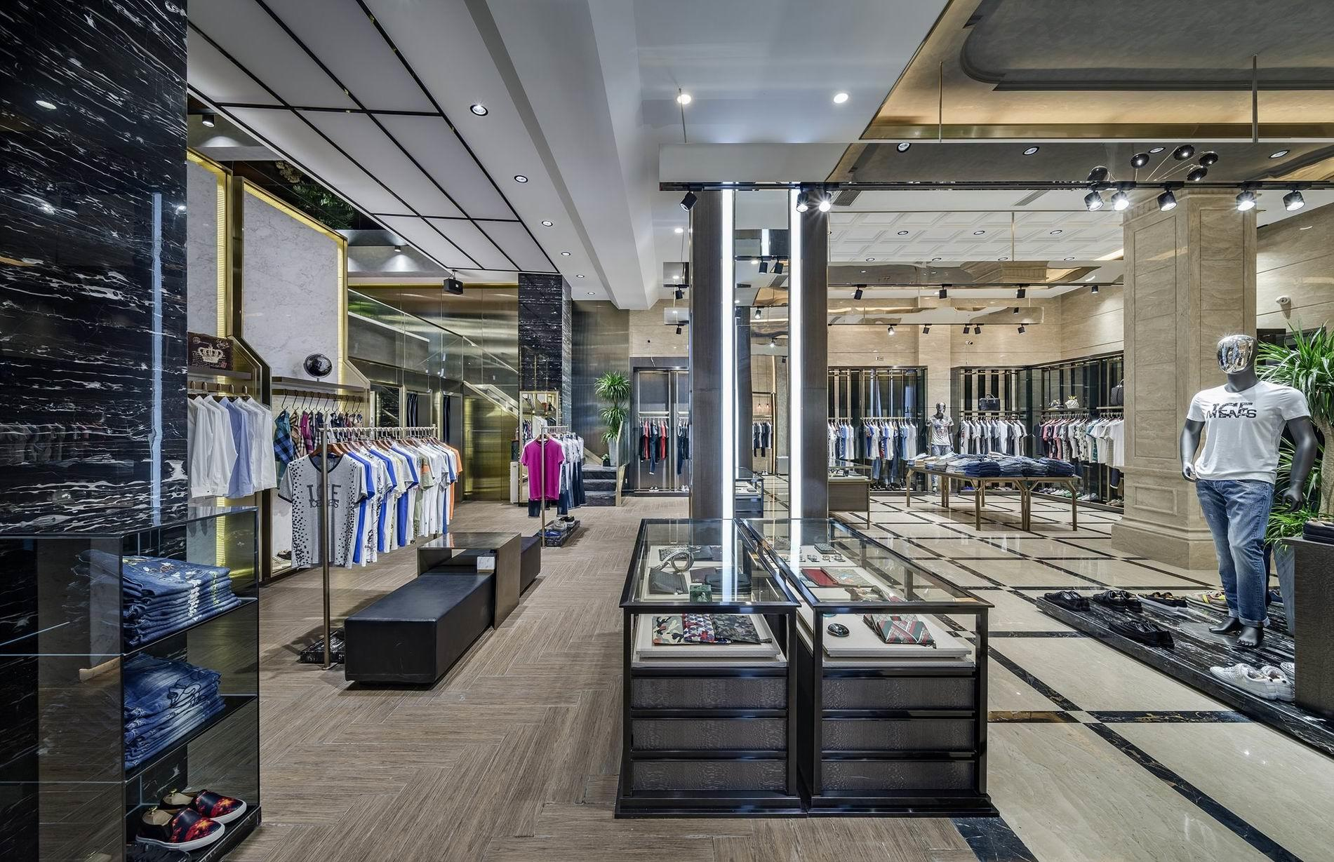 OUYEE free delivery tailoring shop interior design at discount underwear display-2