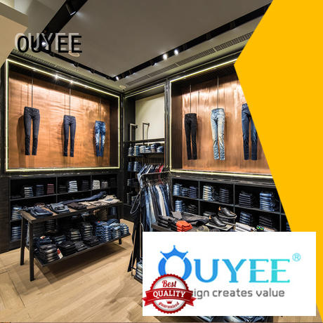 OUYEE fast installation garments shop furniture cheapest price for decoration