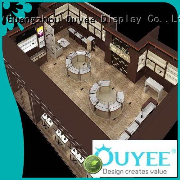 OUYEE chic style latest jewellery showroom design OEM for shop