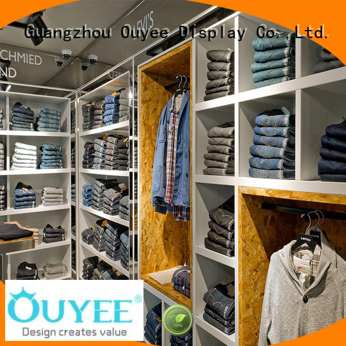 OUYEE top-selling retail clothing display racks at discount for garment display
