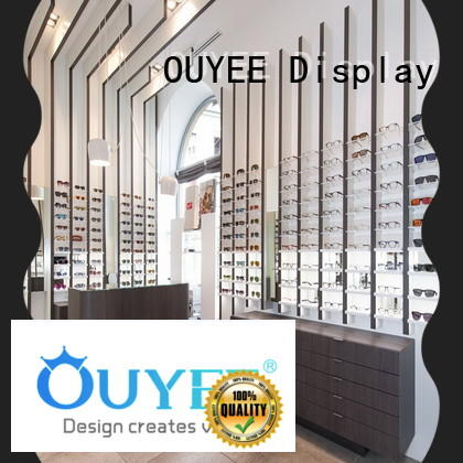 wooden shelf for sunglasses at discount for shop OUYEE