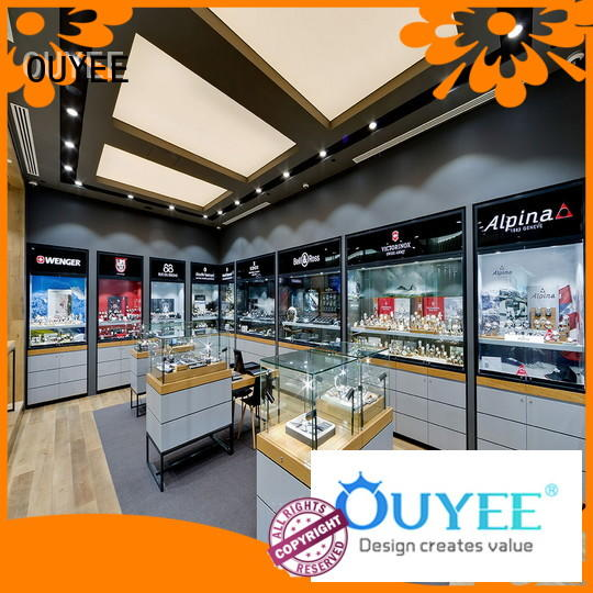 Quality OUYEE Brand jewellery shop showcase design cabinets jewelry