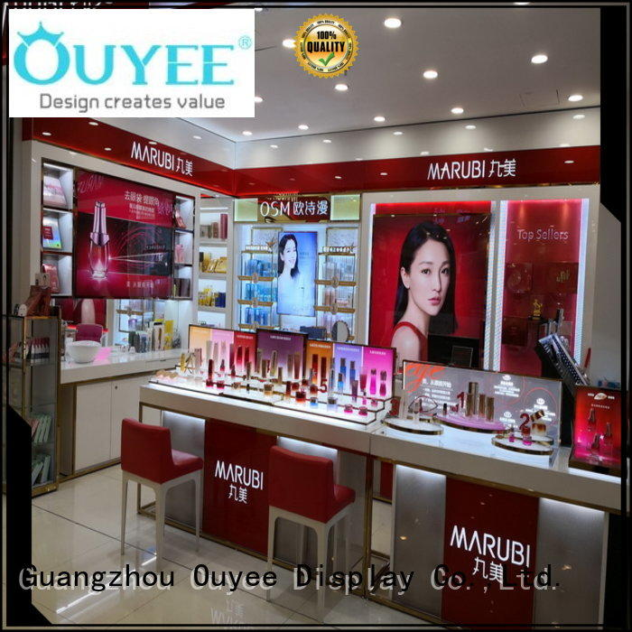 OUYEE durable makeup display case cheapest factory price for decoration