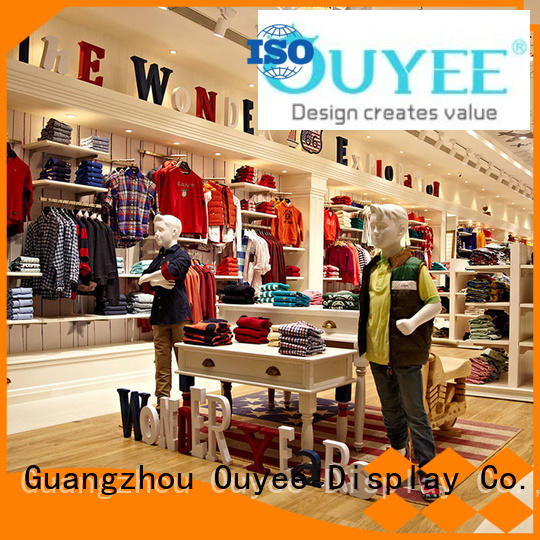OUYEE eye-catching jeans shop interior design top brand for decoration