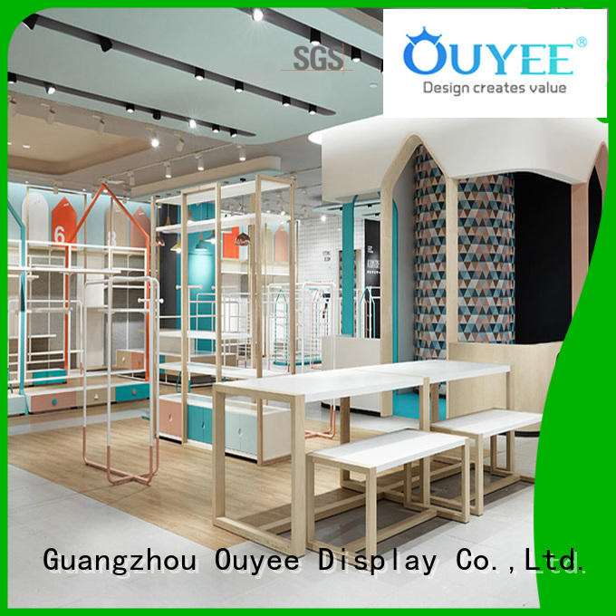 OUYEE Brand store showroom design ouyee clothing shelves