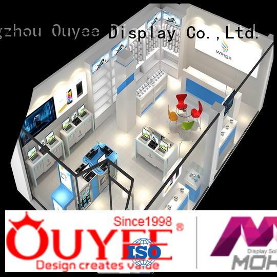hot-sale mobile repair counter design wooden manufacturer