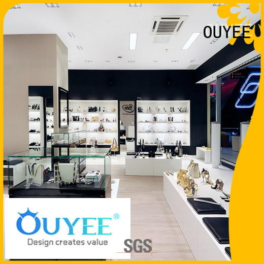 high-quality wall mounted shoe display high-end for store OUYEE