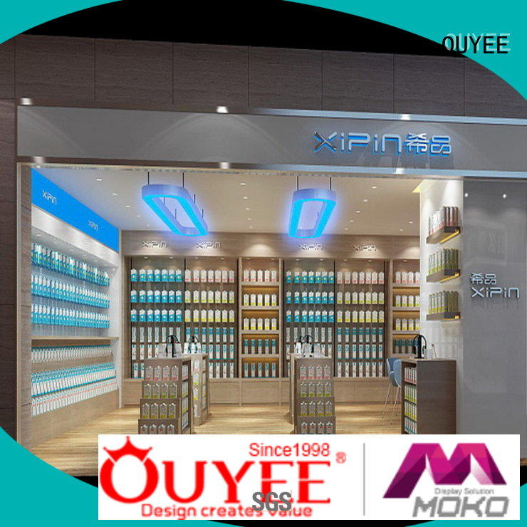Wholesale wooden electronic shop display OUYEE Brand