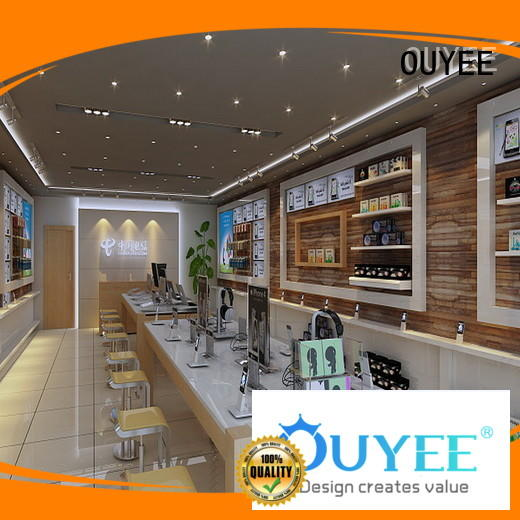 showcase electronic shop interior design fast installation for electronics OUYEE