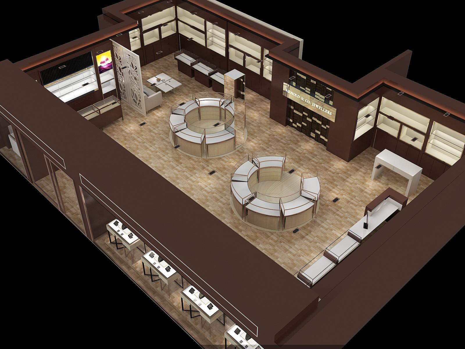 OUYEE chic style latest jewellery showroom design OEM for shop-1