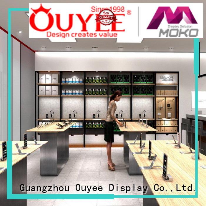Hot electronic shop display fixtures OUYEE Brand