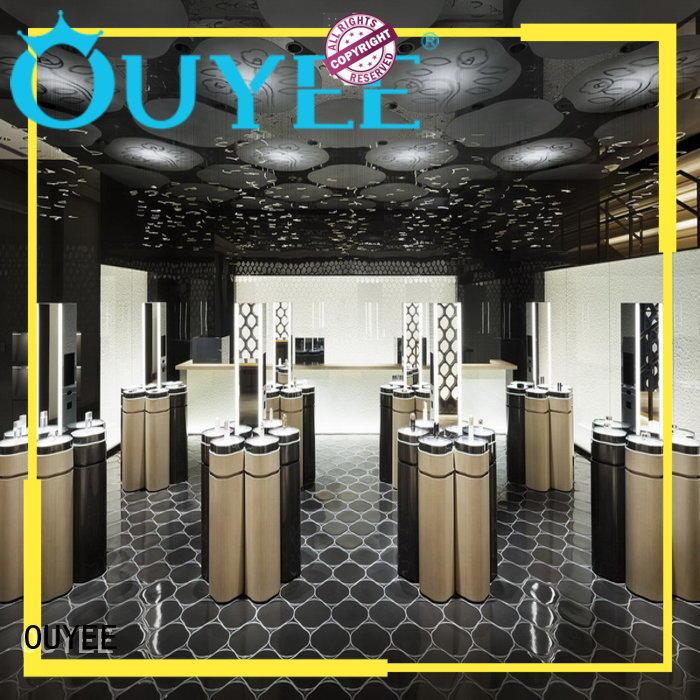 Wholesale kiosk makeup retail display OUYEE Brand