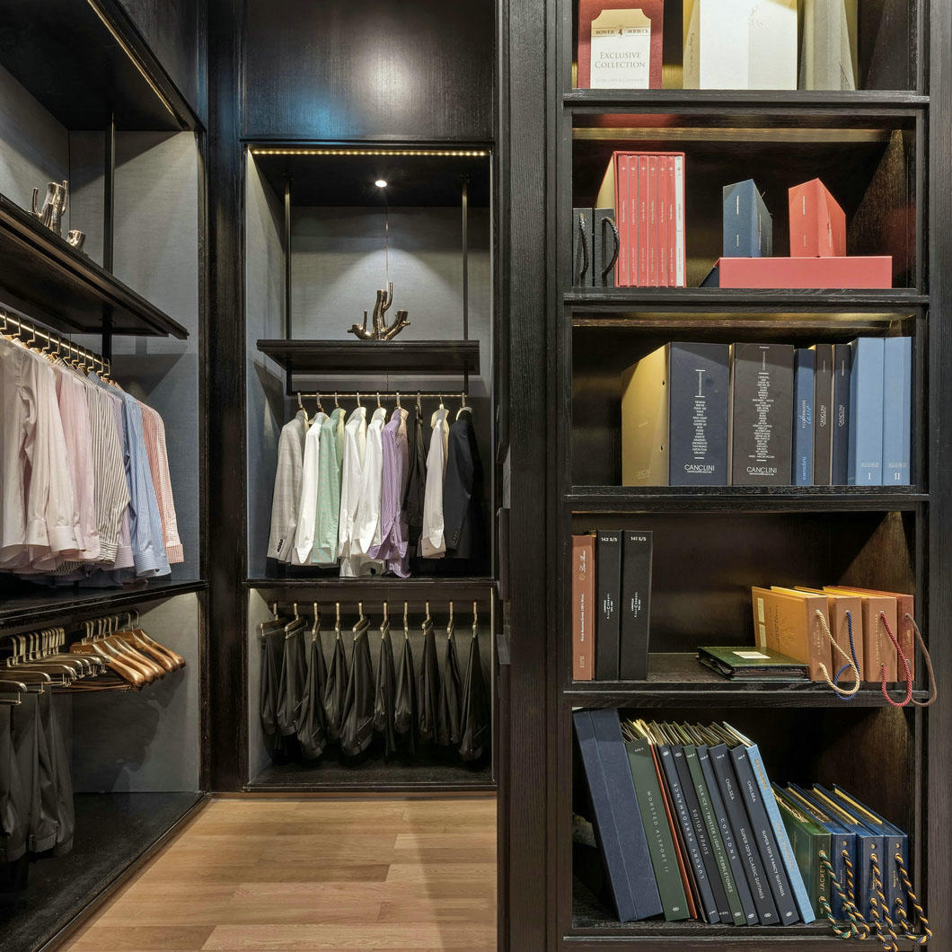 high-end garment shop interior design ideas cheapest price for show room OUYEE-2