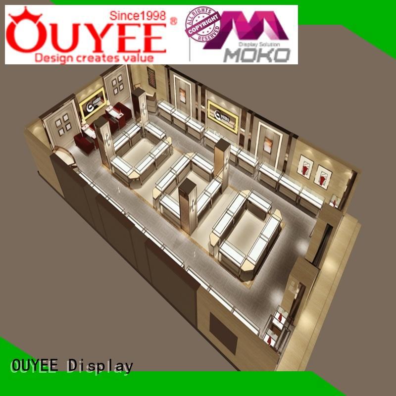 jewelry wooden ideas jewellery shop design OUYEE Brand company