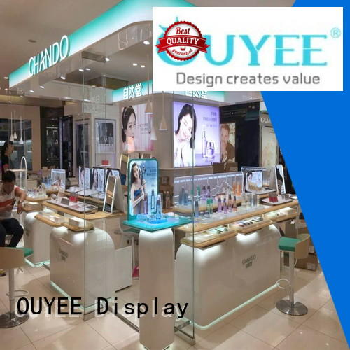 OUYEE Brand showroom furniture kiosk custom makeup retail display