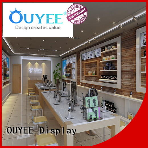 design Custom mobile electronic shop display kiosk OUYEE