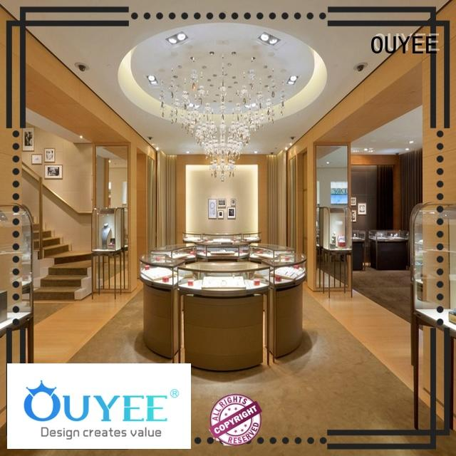 custom jewellery display cabinets OEM for shop OUYEE
