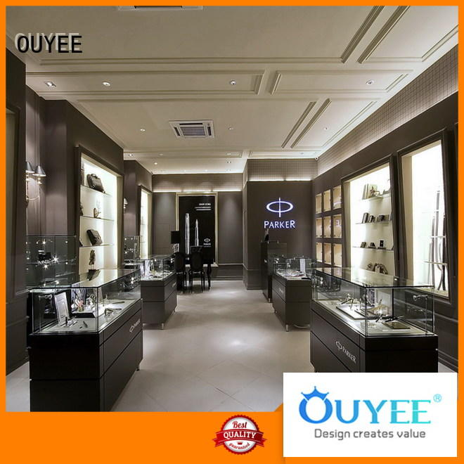 custom jewelry display boxes with lids OEM for shop OUYEE