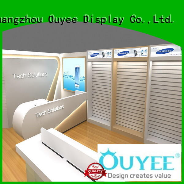 display plywood phone repair kiosk OUYEE Brand