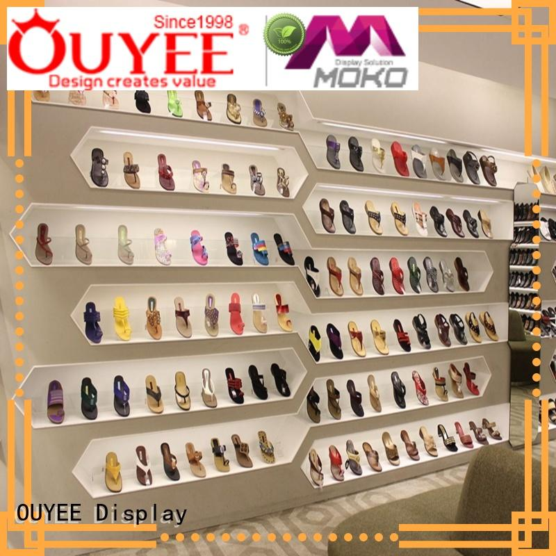 durable rotating shoe rack high-end popular for chain shop