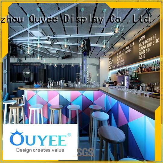 interior counter kiosk coffee shop OUYEE Brand