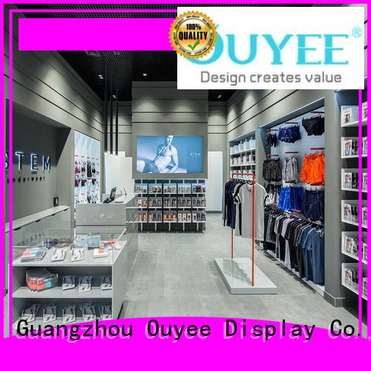 commercial cloth design cabinet clothing shelves OUYEE