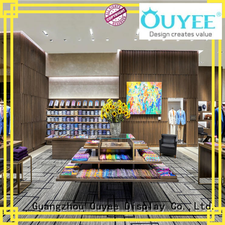 OUYEE Brand stand ouyee clothing shelves baby factory