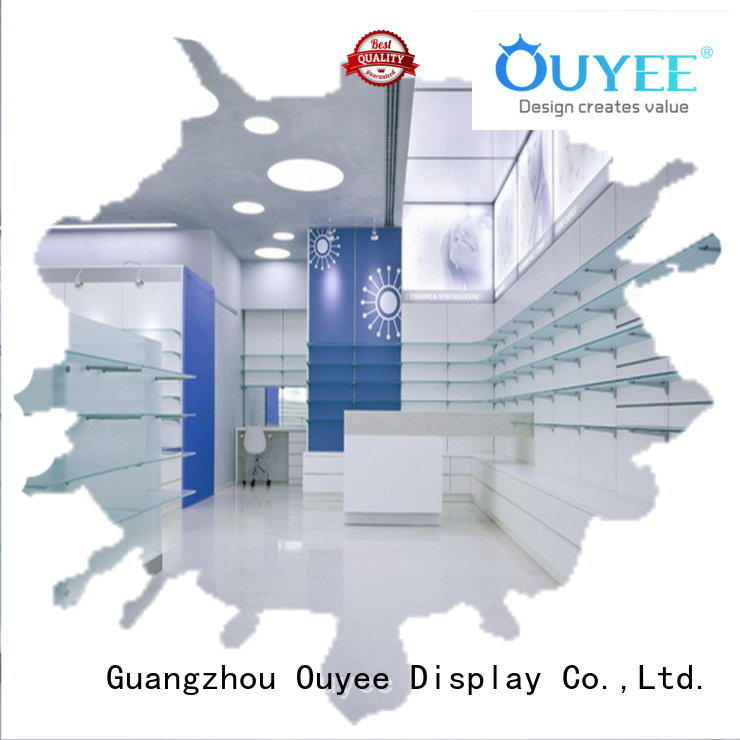 pharmacy counter design display medicine counter OUYEE Brand pharmacy counter