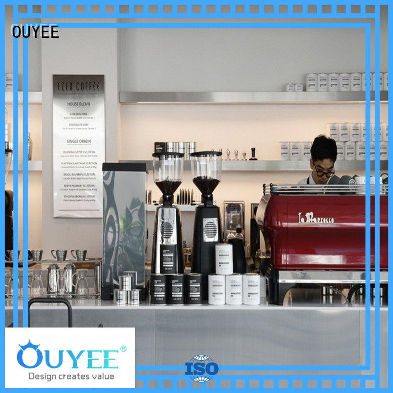 Custom decor coffee shop design commercial OUYEE