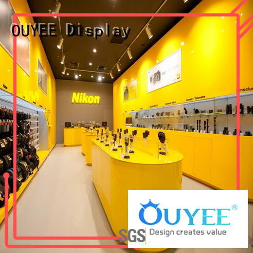 plywood mdf table electronic shop display OUYEE Brand