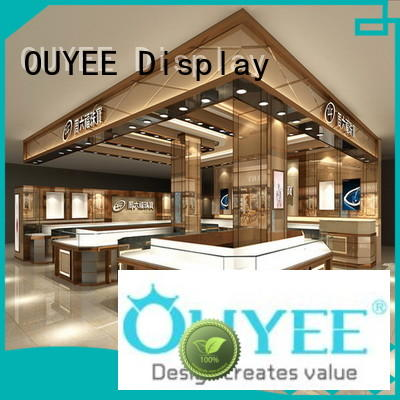 OUYEE latest wooden jewellery display stands eye-catching for shop