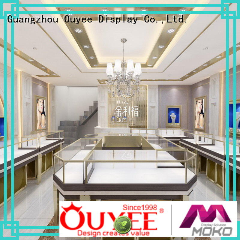 OUYEE top brand jewellery counter display OBM for shop