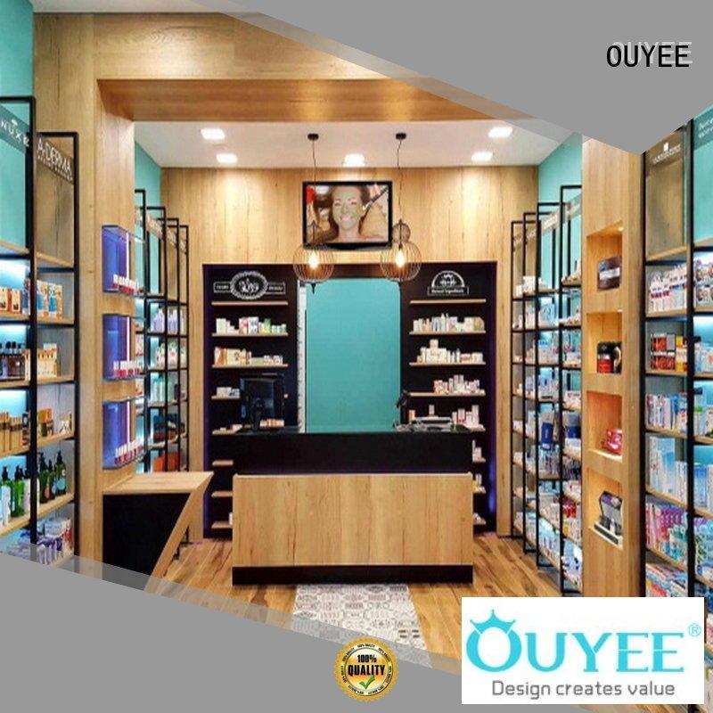 pharmacy decoration medicine OEM pharmacy counter OUYEE