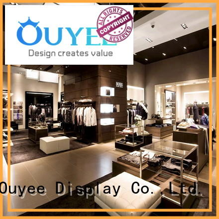 shop fittings clothes racks cheapest price for garment display OUYEE