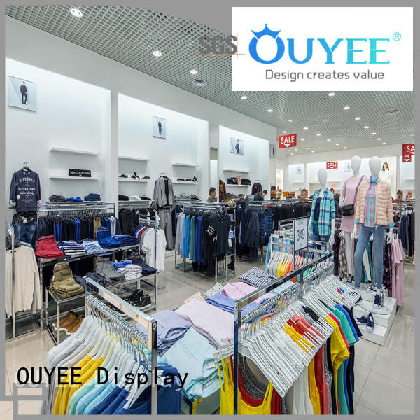 commercial interior boutique clothing display racks OUYEE Brand