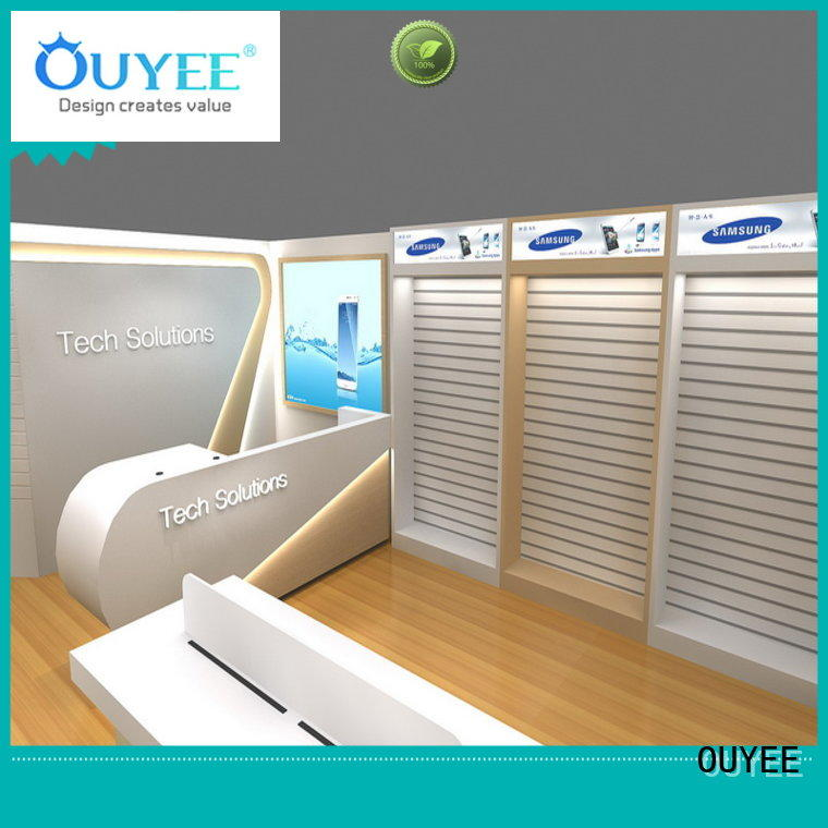 OUYEE top selling mobile shop interior design fast delivery for electronics