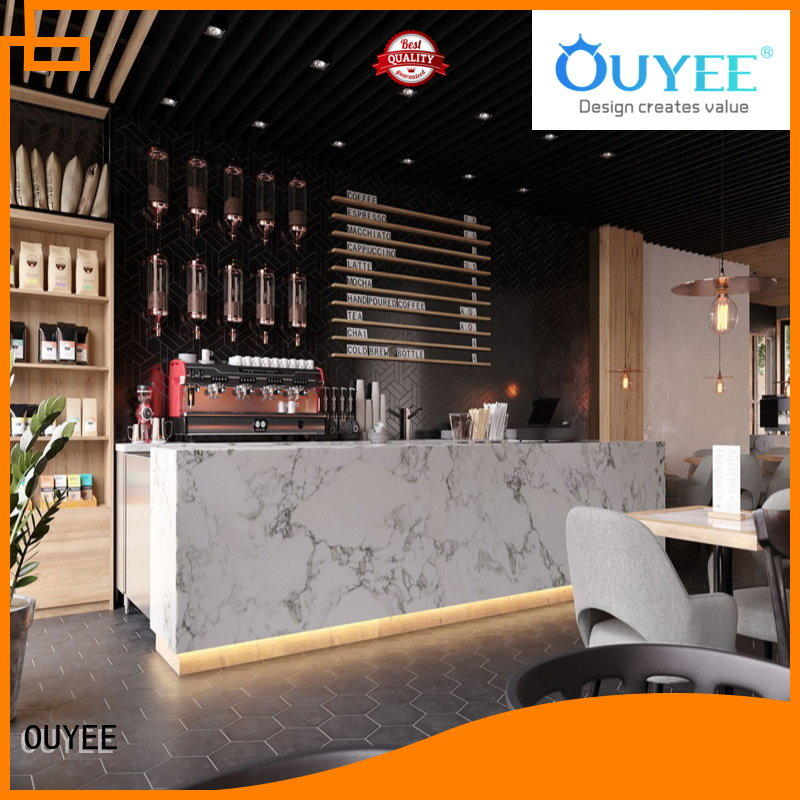 commercial coffee shop counter cheapest price for restaurant OUYEE