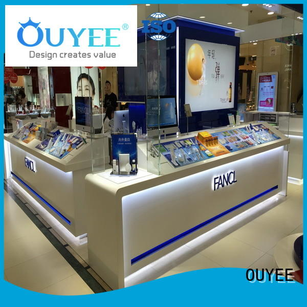 OUYEE universal cosmetics display shelves newest for decoration