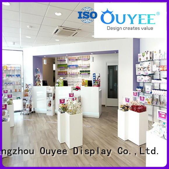 OUYEE Brand designs medical custom pharmacy counter design