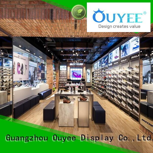 Wholesale handbag wooden shoe rack designs OUYEE Brand
