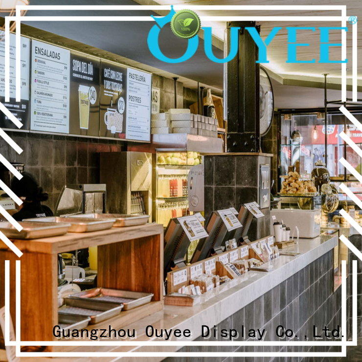 commercial coffee shop counter design at discount for bar OUYEE