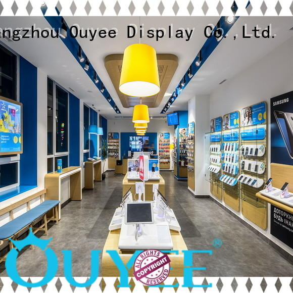 top brand mobile phone shop counter design showcase free delivery for store