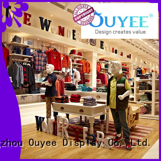 showroom ouyee interior clothing shelves clothing OUYEE