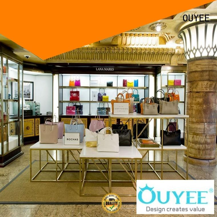 OUYEE Brand sale showcase wooden shoe rack designs manufacture