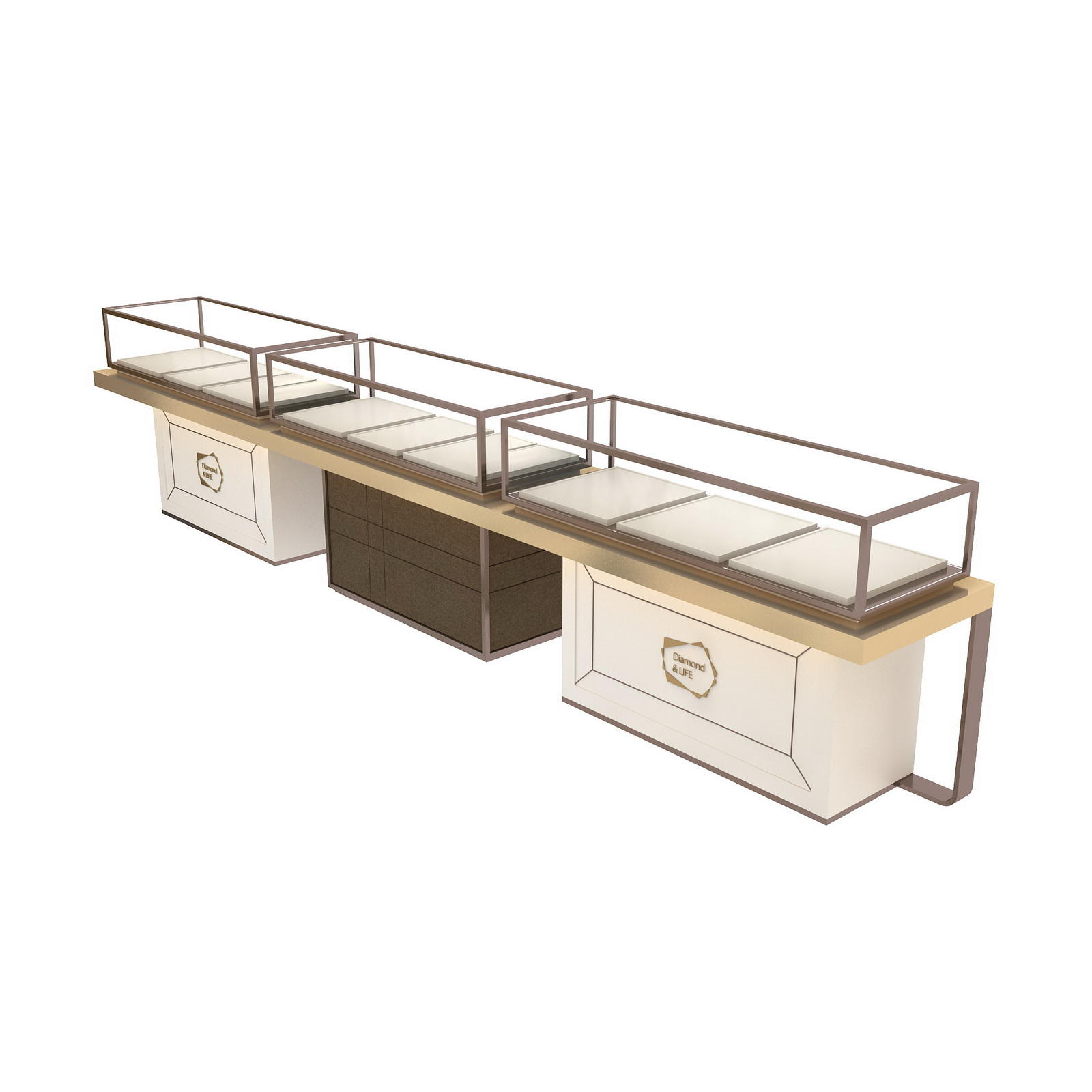 retail jewellery display cabinets commercial for store OUYEE-2