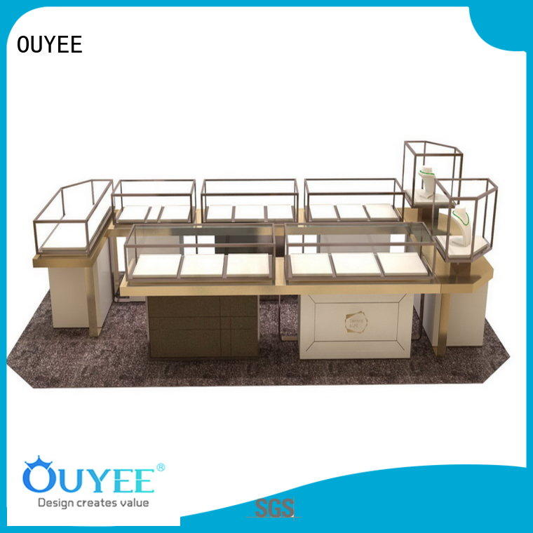 wooden large jewelry jewellery shop design OUYEE