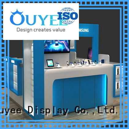 counter cabinet accessories mdf phone repair kiosk OUYEE Brand